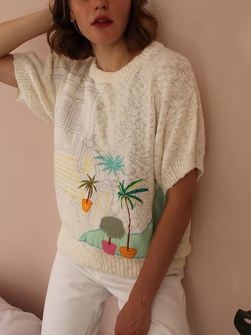 Vintage Summer Knit in Cream White - (EU46)