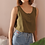 Thumbnail: 90s Vintage Silk Top in Olive Green - (EU44)
