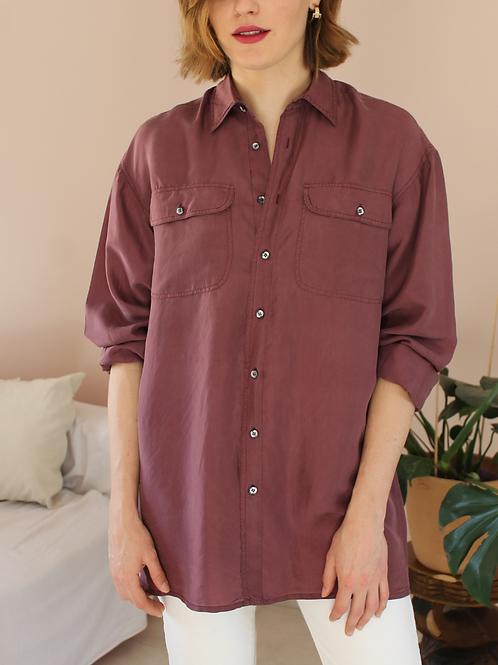 90s Vintage Silk Shirt in Dusty Pink - (EU48)