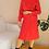 Thumbnail: Vintage Godet Dress in Red