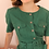 Thumbnail: 90s Vintage Green Linen Dress- (EU40-42)