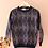 Thumbnail: 90s Vintage Knit Sweater in Blue Print