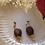 Thumbnail: Vintage Wood Dangle Earrings