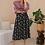 Thumbnail: 90s Vintage Floral Skirt in Navy Blue - (EU42)