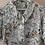 Thumbnail: 90s Vintage Pleated Sleeve Blouse in White - (EU44)