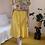 Thumbnail: 90s Vintage Button Down Skirt in Yellow ( EU 38-40)