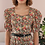 Thumbnail: 90s Vintage Floral Puff Sleeves Dress - (EU42)