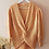 Thumbnail: Vintage 90s Sweater with V Neck In Peach