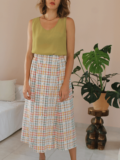 90s Vintage Maxi Striped Skirt ( EU 40-42)