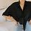 Thumbnail: 90s Vintage Silk Shirt in Black