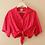 Thumbnail: 90s Vintage Tie Crop Top in Fuchsia