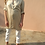 Thumbnail: Vintage Collared Silk Blouse in Beige