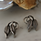 Thumbnail: Vintage 60s Silver Plated Leaf Earrings