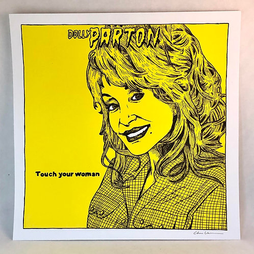 DOLLY PARTON CRAMPS WALL PRINT