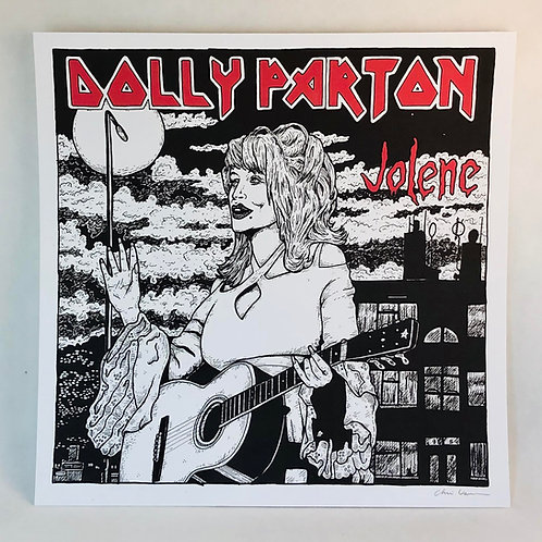 DOLLY PARTON MAIDEN WALL PRINT