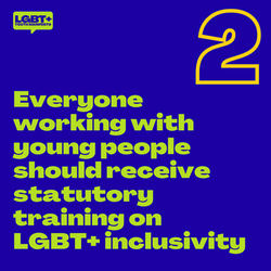 Everyone working with young people should receive statutory training on LGBT+ inclusivity
