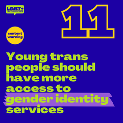 Young trans people should have more access to gender identity services