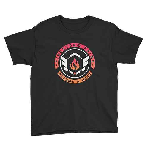 Firestorm Prime Logo Crest Youth Short Sleeve T-Shirt