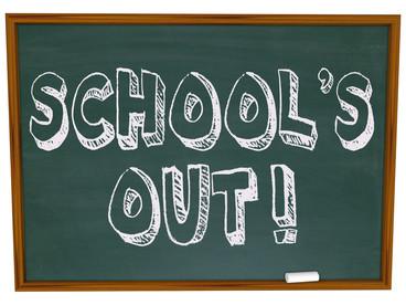 School's out (l'école est finie)