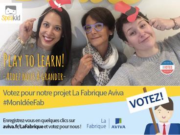 La Fabrique Aviva-> Merci à tous les votants!