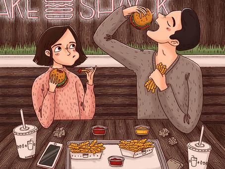 紐約插畫家 Dina Odess 仔細刻畫出情侶日常