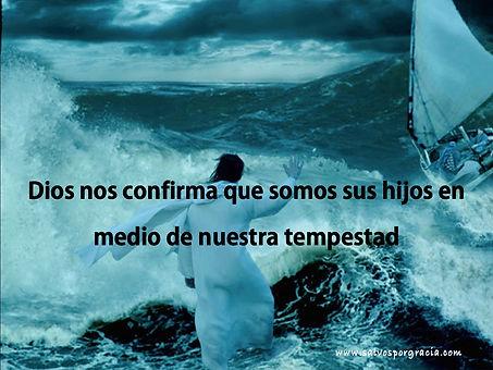 Jesus en medio de la tempestad