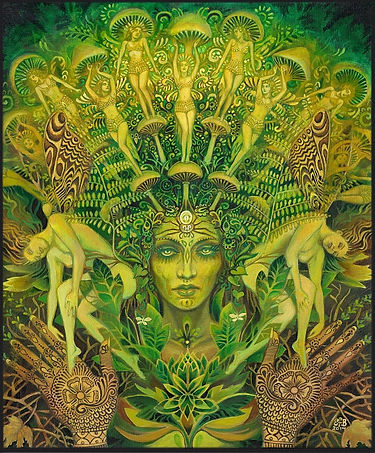 The Dryad by Mythological Goddess Art by Emily Balivet