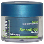 SmoothGel 1-Phase clear geeft elke nagelstylist de mogelijkheid sterke, snelle nagelverstevigingen en -verlengingen te maken op zowel tips als sjablonen. Een medium dikke, kristalherdere 1-fase gel die zowel als basis, opbouw en topgel functioneert. Ook geschikt voor gel pedicure. Uitharding: UV = 2 min. LED = 1 min.