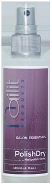 Eindeloos geduld bij het dragen van nagellak is nu verleden tijd. PolishDry is een snelle nagellakdroger met verzorgende amandelolie. Beschermt de nagellakbehandeling en verzorgt de nagelriemen in een enkele spray.