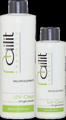 Het plaklaagje dat na uitharding aan het oppervlak van gels achterblijft kunt u optimaal verwijderen met UV-Clean. Uv-Clean zorgt voor een glanzende, plakvrije gellaag.