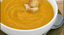 Roasted Butternut Squash Soup w/ Herb Croutons