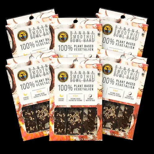 Banana Smoothie Bowl Bars w/ Coconut & Sesame Seeds 120g | 6 Pack