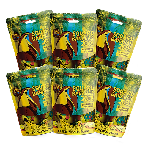 Square Banana 2Go! w/Pineapple 150g | 6 Pack