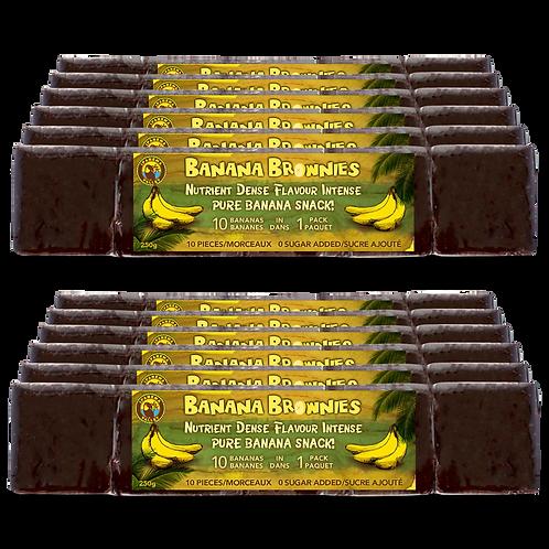 Banana Brownies Just Banana 250g | 12 Pack