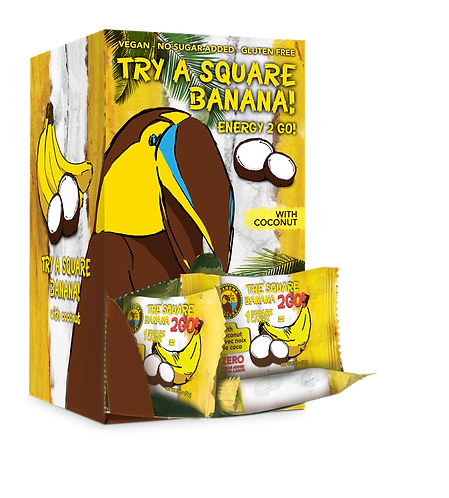 The Square Banana 2Go! 48x25g w/Coconut