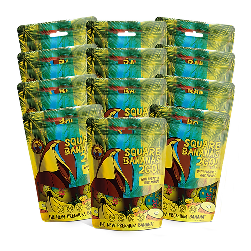 Square Banana 2Go! w/Pineapple 150g | 12 Pack