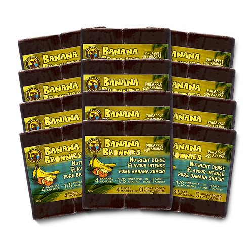 Banana Brownies w/ Pineapple 120g | 12 Pack