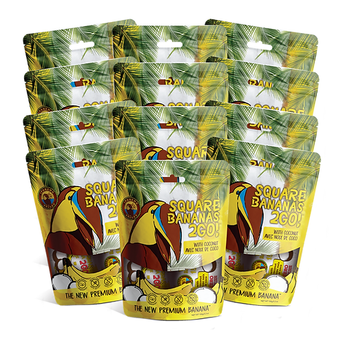 Square Banana 2Go! w/Coconut 150g | 12 Pack