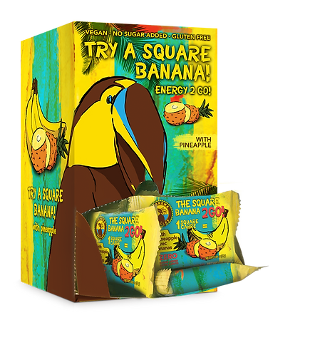 The Square Banana 2Go! 48x25g | w/Pineapple