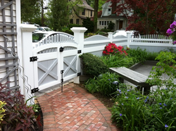 Arched Gates with Majestic Posts