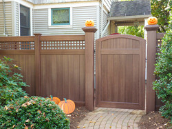 Walnut with Arched Gate