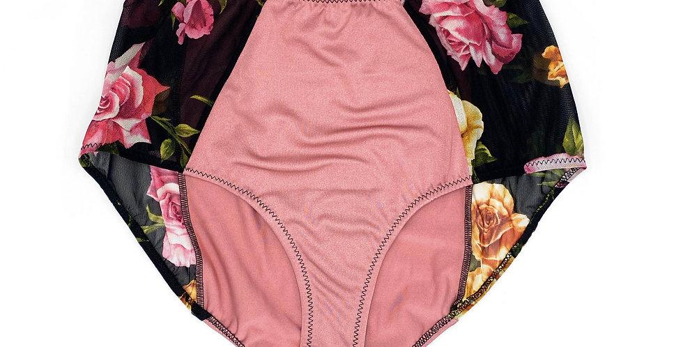 Culotte taille haute rose gold