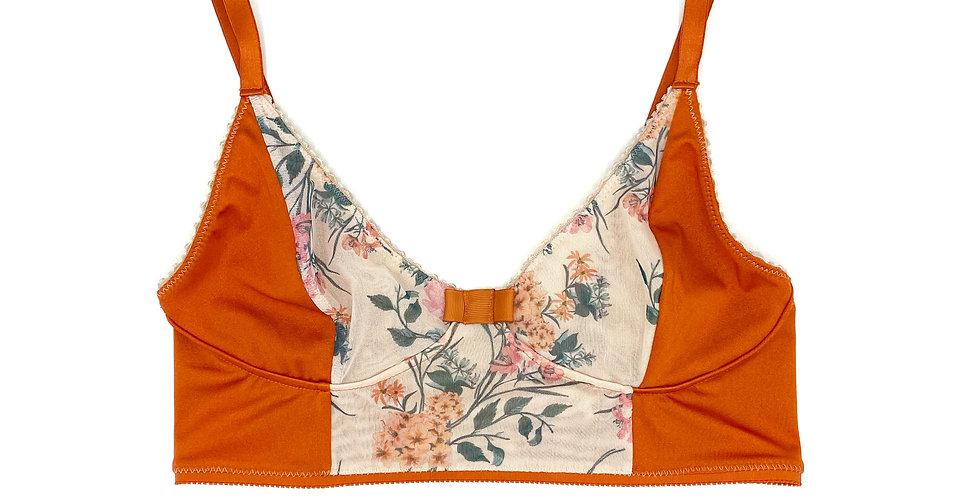 Bralette dalia et abricots