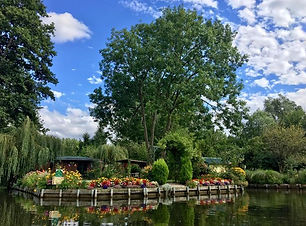 The Hortillonages (canals and gardens) t