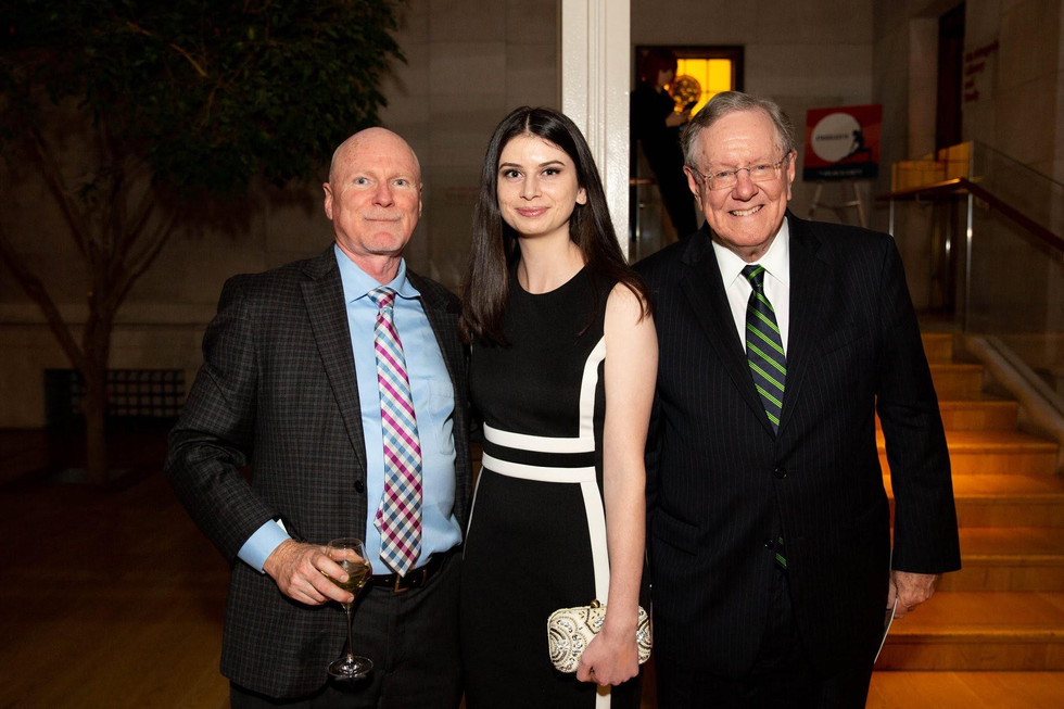 Maeve with Steve Forbes and Rob Schimenz