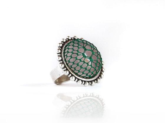 Diseño anillo Frances con encaje Halas