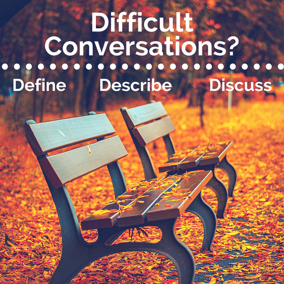 What do you do when it's time to have a difficult conversation?