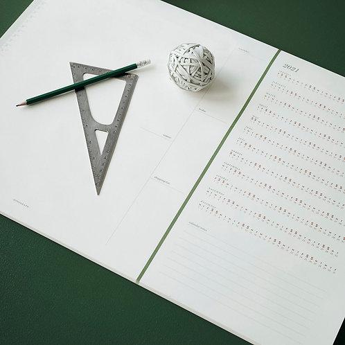 Schreibtischunterlage, Kalender Monograph