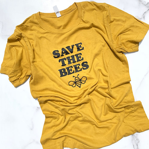 Organic Save The Bees tee-ADULT