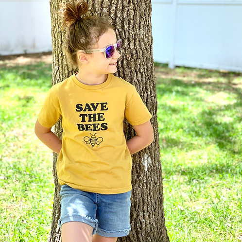 Organic Save The Bees tee--KIDS
